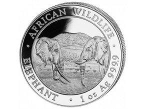 Investiční stříbrná mince somálský slon 2020 1 Oz
