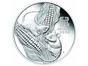 Stříbrná mince rok Krysy 202-1 Oz proof-lunární série III.