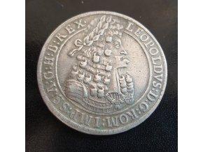 Stříbrný tolar Leopold I. -1701 Hall tolar