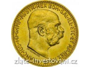 Investiční zlatá mince-rakouská Desetikoruna-novoražba 1912-akce