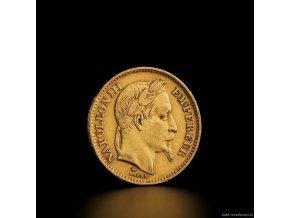 6341 zlata mince francouzsky 20 frank napoleon iii vavrin