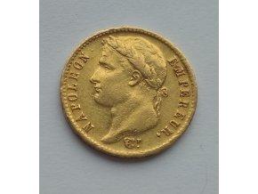 Zlatý 20 frank Napoleon 1814 A