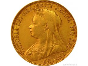 Zlata mince britsky sovereign Victoria1898