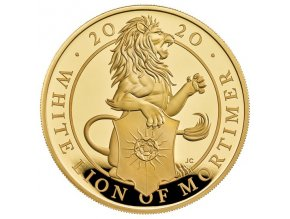 Zlatá mince White lion of Mortimer 1/4 Oz proof 2019