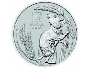 Investiční platinová mince Myš 2020 -Austrálie 1 Oz-Lunární série III.
