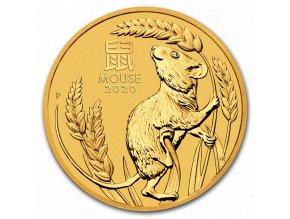 Zlatá mince rok krysy 2020 2 Oz- lunární série III.