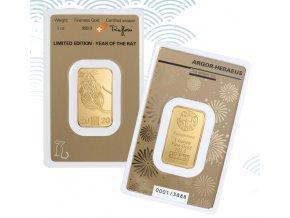 Investiční zlatá cihla Argor Heraeus-Krysa  2020 limitovaná edice 1 Oz