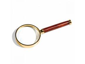 Numismatická lupa z růžového dřeva - 80mm
