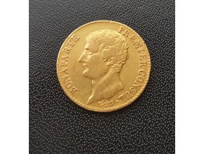 Zlatý 20 frank Napoleon I. konzul
