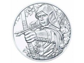Stříbrná investiční mince Robin Hood 1 Oz