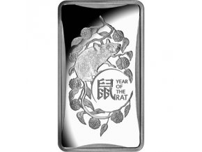 Stříbrný slitek Rok krysy -Australská královská mincovna