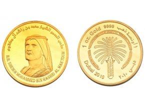 Zlatá investiční mince Palm Jumeirah 2010 1 Oz