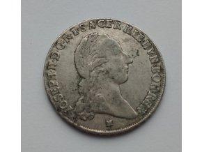 Křížový půl tolar178 9 M  Josef II.