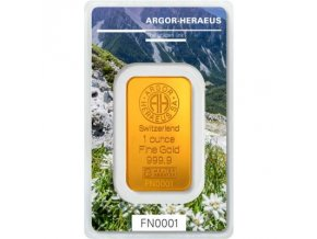 Investiční zlatý slitek Argor Heraeus-Podzim 2019  limitovaná edice Švýcarsko 1 Oz