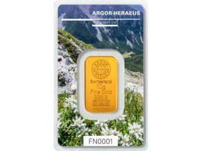 Investiční zlatý slitek Argor Heraeus-Podzim 2019  limitovaná edice Švýcarsko 10g