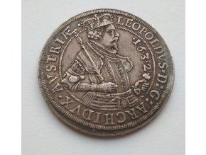 Stříbrný tolar Leopold arcivévoda 1632-Hall