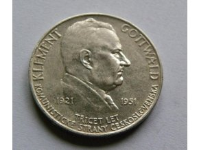 100 Kčs Třicáté výročí vzniku KSČ   - 1951 B.K
