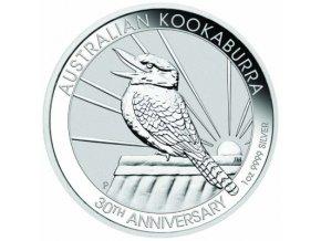 Stříbrná mince australský kookaburra 1 Oz 2020