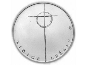 100 kč 50. let vyhlazení Lidic a Ležáků 1992