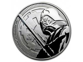 Investiční stříbrná mince DARTH VADER-Star Wars 2018 1 Oz