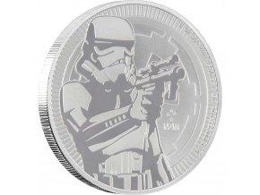 Investiční stříbrná mince STORMTROOPER-Star Wars 2018 1 Oz
