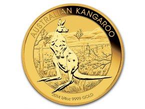Investiční zlatá mince Australian Kangaroo 2014 1/4 Oz