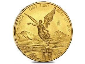 Investiční zlato-investiční zlatá mince Libertad 1/4 Oz-Mexiko