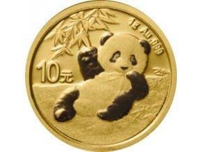 Zlatá čínská panda1g 2020