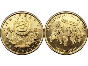 Zlatá mince Tanečníci -1985-Korea 1/2 Oz