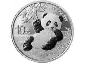 Stříbrný mince panda 2020