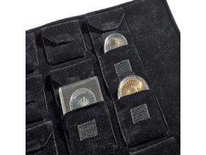 Sametové pouzdro na mince
