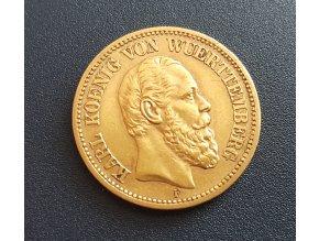 Zlatá 20 marka Karl I.-Wunttemberg
