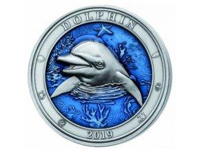 Stříbrná mince Delfín 2019 3 Oz