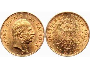 Zlatá 20 marka Georg von Sachsen