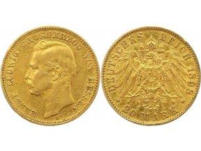 Zlatá 20 marka ErstL Ludwig