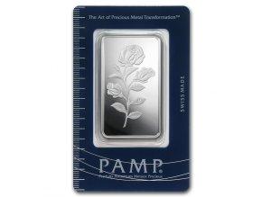 Investiční stříbrný slitek PAMP Růže 20g