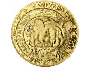 Lunární rok Krysy 2020-1/4 Oz proof Francie