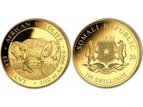 Zlatý slon 2020 1/10 Oz