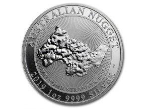 Stříbrná mince nugget 2019-1 Oz