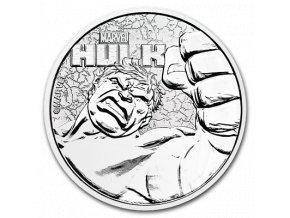 Investiční stříbrná mince Marvel- HULK 1 Oz