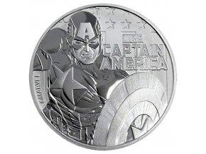 Investiční stříbrná mince Marvel- Kapitán Amerika 1 Oz