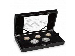 Silver proof commemorative coin set- Stříbrný pamětní set piedfort 2020