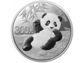 Stříbrná mince Panda 2020 1000g proof