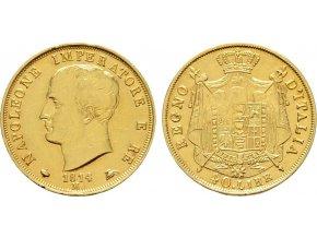 Zlatá 40 lira Napoleon 1814