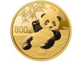 Investiční zlatá mince čínská Panda 2020 50g