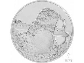 Investiční stříbrná mince JABBA THE HUTT Star Wars 2018 proof 1 Oz