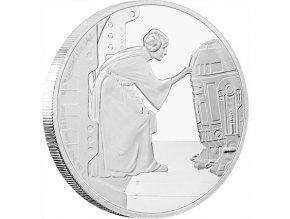 Investiční stříbrná mince Princezna LEIA ORGANA proof 1 Oz