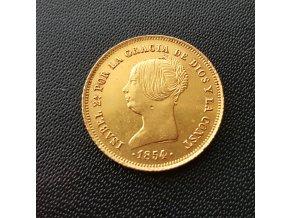 Zlatá mince dublon-80 real