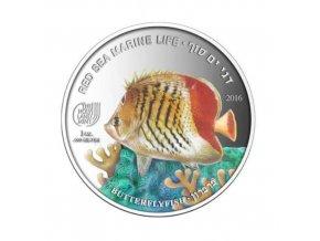Investiční stříbrná mince Butterfly fish 1 Oz proof