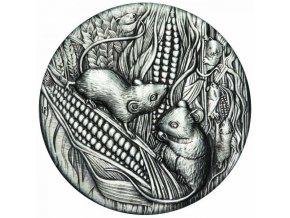 Stříbrná mince krysa 2 Oz 2020